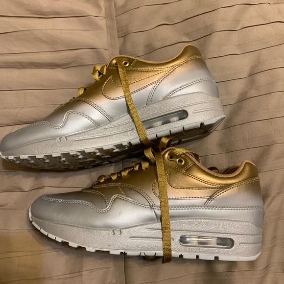 Metallic silver and gold Nike Air Max 90